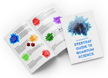 An image showing the cover of the Quantum City Everyday Guide to Quantum Science
